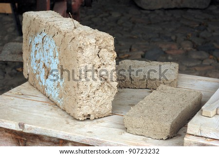 old bricks of mud and straw