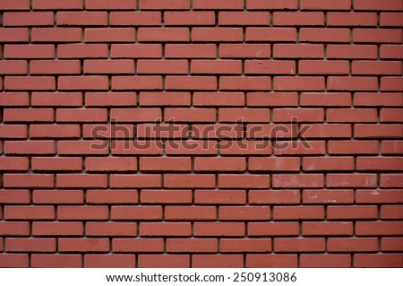 Old brickwall. New red brickwall with black seams - stock photo