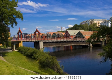Old Bridge in Trondheim, Norway