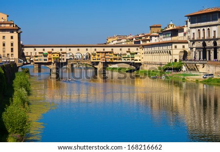 Old bridge -  Ponte Vecchio in Florence, Tuscany, Italy