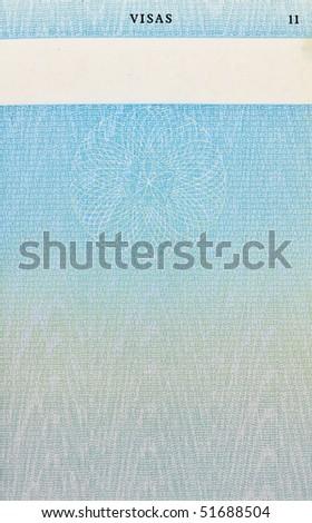 old British passport page design - stock photo