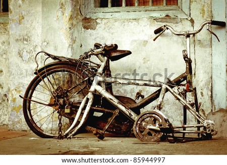 old broken bike