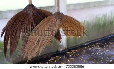 Old broom and dirty floor. & Straw Broom Stock Images Royalty-Free Images u0026 Vectors | Shutterstock memphite.com