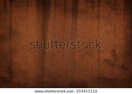old brown leather - stock photo