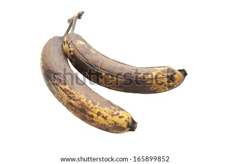 old brown unhealthy rotten bananas fruit - stock photo