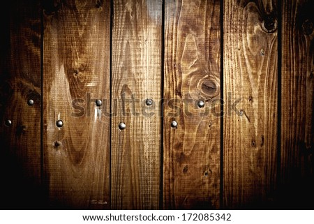 old brown wood plank background texture - stock photo