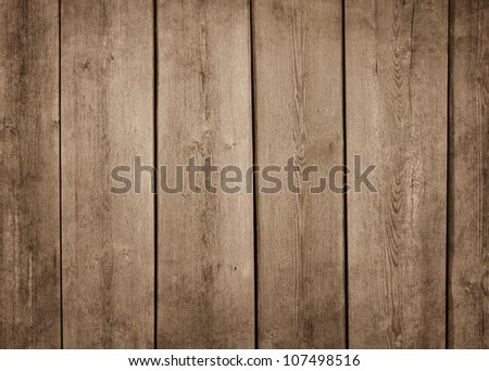 Old brown wood texture background with copy space - stock photo