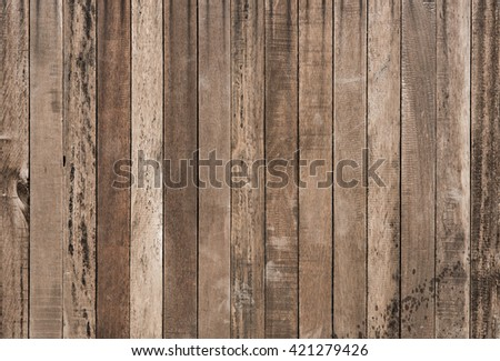 Old Brown Wood texture for background - stock photo