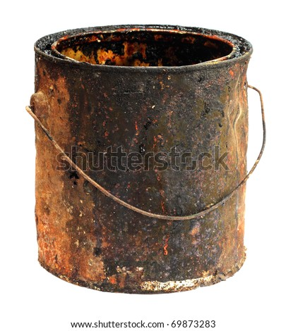 Old bucket - stock photo