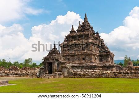 old buddhist temple, Jogjakarta, Indonesia - stock photo