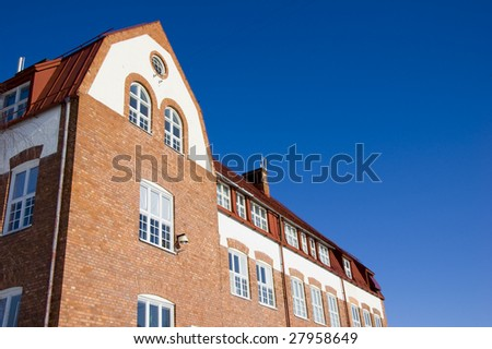 old building in north sweden/Gällivare  - stock photo
