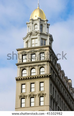 Old building in NYC - stock photo