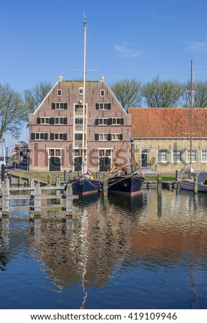 Old building the Peperhuis in Enkhuizen, Netherlands - stock photo