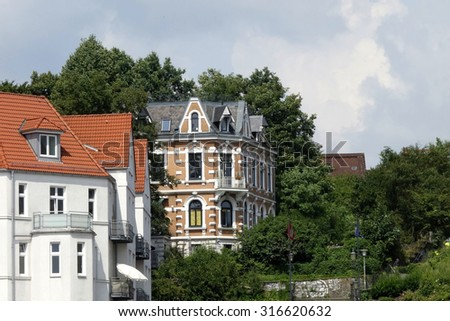 old buildings hamburg northern germany