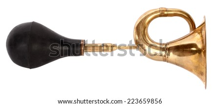 Old bulb trumpet - stock photo