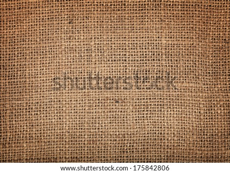 Old burlap texture pattern background - stock photo