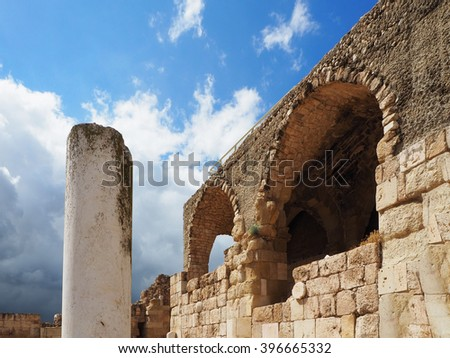 Old byzantine church Beit Guvrin      - stock photo