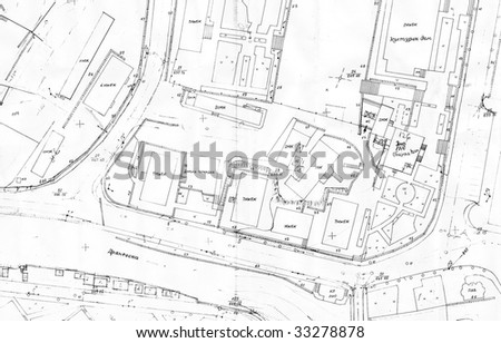 old cadastral drawing