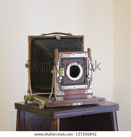 old camera in the museum - stock photo