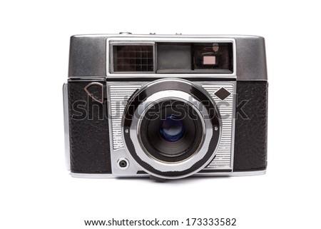 Old camera isolated - stock photo
