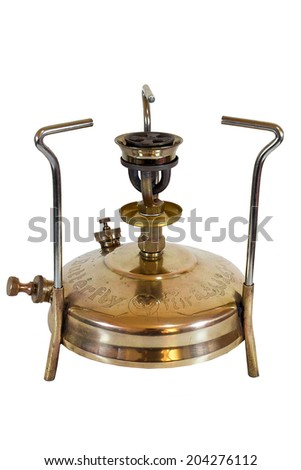Old camping stove (Butterfly), isolated on white background  - stock photo