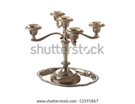 old candlestick - stock photo