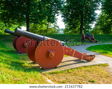 Old cannon in Fredrikstad Fortress