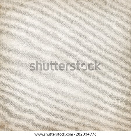 old canvas fabric texture vintage background - stock photo