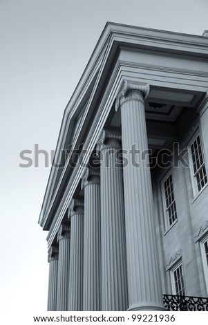 Old Capital Museum building front in Jackson Mississippi - stock photo