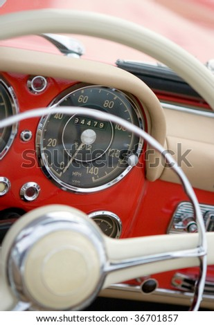 Old Car / Detail / Background - stock photo