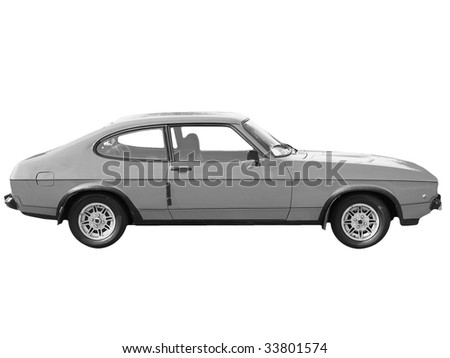 Old car isolated over a white background