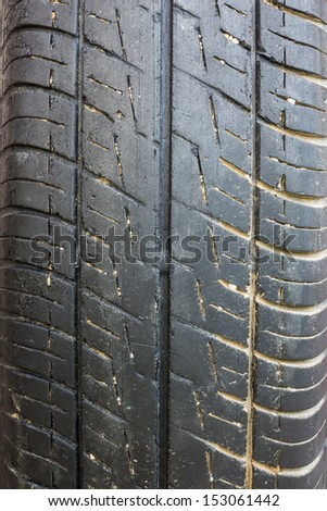 Old car tire texture