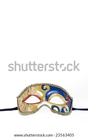 old carnival mask - stock photo