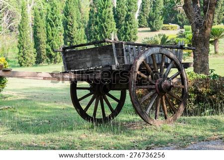 old cart - stock photo
