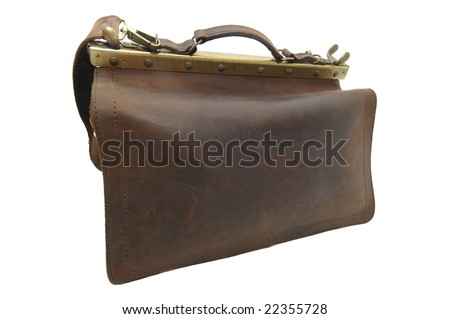 Old case isolated against a white background - stock photo