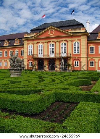 Old castle - Czech Republic Dobris - stock photo