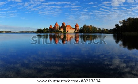 Old Castle in Lithuania - stock photo