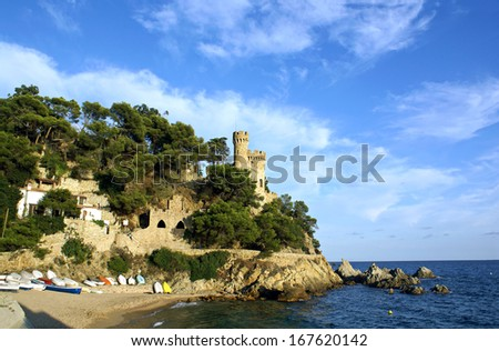 Old castle on the Costa Bravo in Lloret de Mar