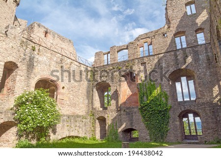Old Castle ruins, Baden-Baden, Germany