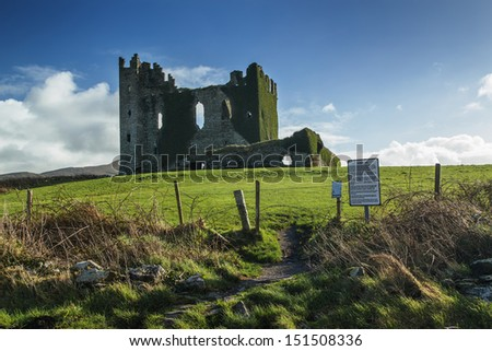 Old castle ruins in a sunny day during noon