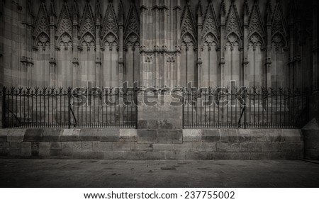 Old cathedral architecture details - stock photo