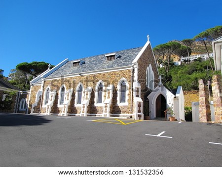 Old Catholic Church in Simons Town, Cape Town - stock photo
