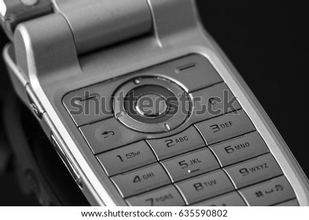 old cell phone numeric keyboard