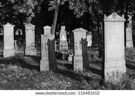 Old cemetery - stock photo