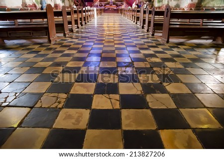 Old Checkered Floor - Baclayon Church - Philippines