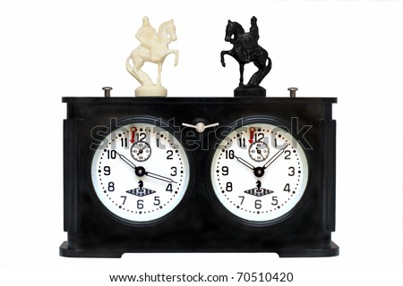 Old chess clock - stock photo