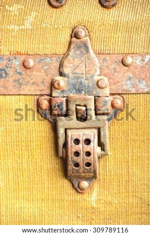 Old Chest Latch - stock photo
