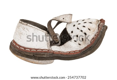 Old children's sandals - stock photo