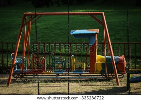 old children Train in playground at Chiangmai Thailand