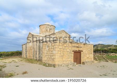 Old Christian church near Kyrenia (Girne), Cyprus - stock photo